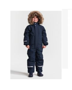 Didriksons Bjornen Kids Snowsuit - Navy - save 25%