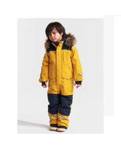 Didriksons Bjornen Kids Snowsuit - Oat Yellow  100cm only - save 25%
