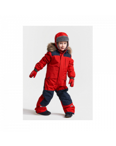Didriksons Bjornen Kids Snowsuit -  Chilli Red 80cm only - save 25%
