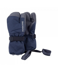 Didriksons Fossa Kids Three-Finger Ski Gloves - Navy