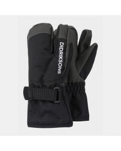 Didriksons Fossa Kids Three-Finger Ski Gloves - Black