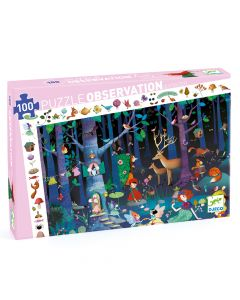 Enchanted Forest - Djeco Observation Puzzle FSC Mix