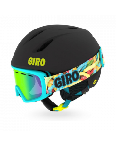 Giro Launch Combo Ski Helmet & Ski Goggle Set, Black Sweet Tooth