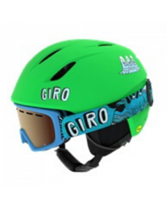 Giro Launch Combo Helmet & Goggle Set, Matte Bright Green Tagazoo