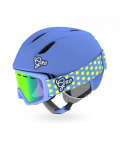 Giro Launch Helmet & Goggle Combo Set, Blue Micro Daisy - save 35%