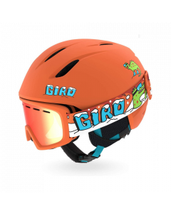 Giro Launch Helmet & Goggle Combo Set, Orange Dino