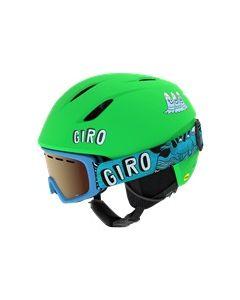 Giro Launch Combo Helmet & Goggle Set, Matte Bright Green Tagazoo
