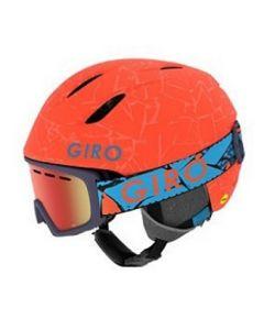 Giro Launch Combo Helmet & Goggle Set, Matte Vermillion Rock