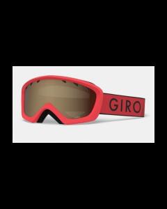 Giro Rev Ski Goggles, Red/Black Zoom  - 8 yrs +