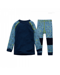 Helly Hansen Kids Lifa Merino Baselayer Set Blue Fog - save 25%
