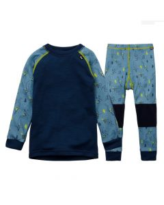 Helly Hansen Kids Lifa Merino Baselayer Set Blue Fog - save 20%