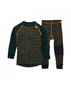 Helly Hansen Kids Lifa Merino Baselayer Set Forest Night - save 20%
