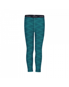 Icebreaker Kids 200 Oasis Merino Leggings, Kingfisher / Arctic Teal - save 40%