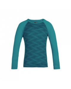Icebreaker Kids 200 Oasis Thermal Top, Kingfisher/Arctic Teal - save 40%