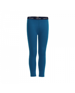 Icebreaker Kids Oasis Merino Thermal Leggings, Prussian Blue - save 50%