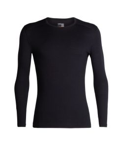 Icebreaker Mens 200 Oasis LS Thermal Crewe - Black