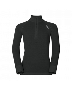 Odlo Base Layer Top Turtle Neck L/S Half Zip Active Warm Kids Black