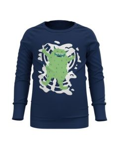 Odlo Kids Active Warm Long Sleeve Crew Neck - Estate Blue 159319-20744
