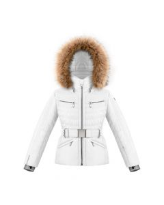 Poivre Blanc Girls Ski Jacket - White Ages 7 -16