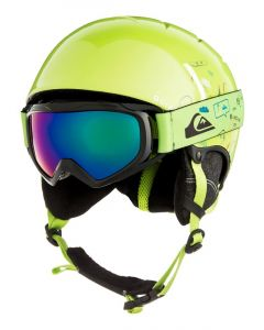 Quiksilver The Game Ski Helmet and Google Set - Lime Green