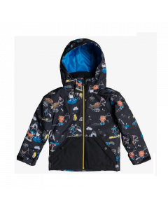 Quiksilver Little Mission Jacket  Black Snow Party - save 25%