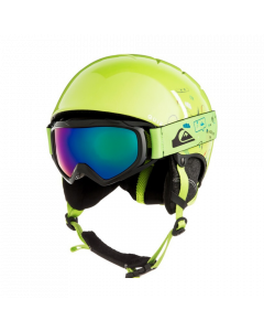 Quiksilver The Game Ski Helmet and Goggle Set - Lime Green