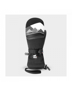Racer Junior Performance Goose Down Ski Mittens - Black/White