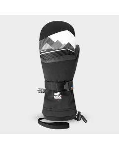 Racer Junior Performance Goose Down Ski Mittens - Black/White