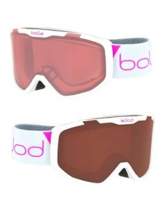 Bolle Rocket Kids Ski Goggles, White 6yrs + - 2 lens options