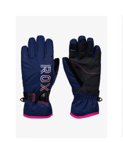 Roxy Freshfield Ski Gloves Medieval Blue for girls age 8-16
