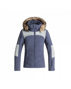 Roxy Bamba Girls Ski Jacket, Crown Blue - save 40%