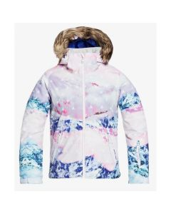 Roxy Jet Ski Girl SE Ski Jacket - White Pyrennes ERGTJ03109WBB4