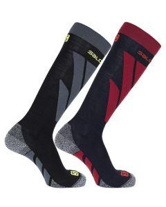 Salomon Access Twin Pack Ski Socks Night Sky / Black