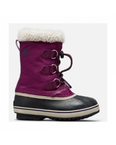 Sorel Childrens Yoot Pac Nylon Snow Boots Wild Iris/Dark Plum