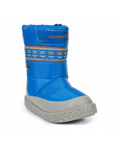Trespass Alfred Snow Boots, Bright Blue - save 40% UK Child 8 only