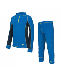 Trespass Bubbles Boys Microfleece Base Layer Set, Electric Blue