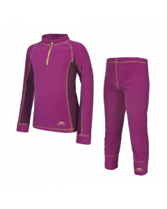Trespass Bubbles Girls Microfleece Base Layer Set, Azalea