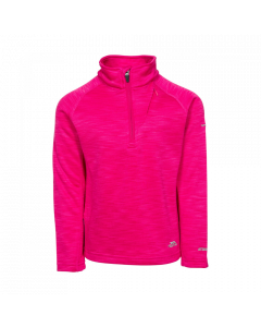 Trespass Celina Kids Ski Fleece, Pink Lady Marl