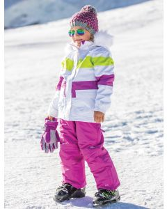 Trespass Hawser Girls Ski Jacket - White - save 40%