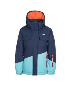 Trespass Settler Girls Navy Ski Jacket