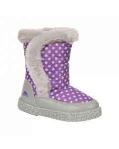 Trespass Tigan Snow Boots, Viola - save 40% UK Child 6 only