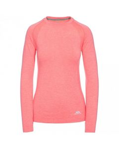 Trespass Welina Womens Active Base Layer Top - Neon Coral Marl