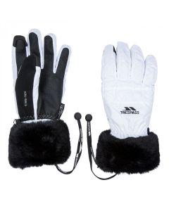 Trespass Yanki Ladies Ski Gloves, White