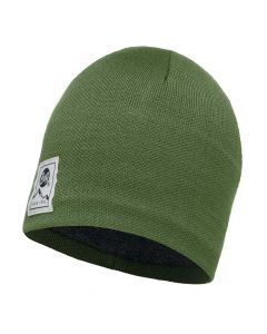 Buff Knitted & Polar Hat - Solid Forest