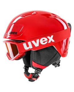 Uvex Heyya Hemlet and Goggle Set - Red Black