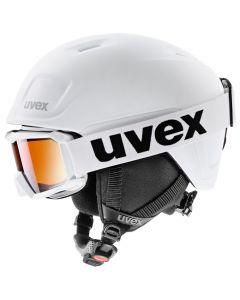 Uvex Heyya Pro Hemlet and Goggle Set - White Black Mat