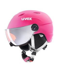 UVEX Junior Visor Pro Ski Helmet - Pink Mat