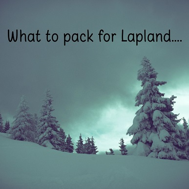 what to pack for Lapland
