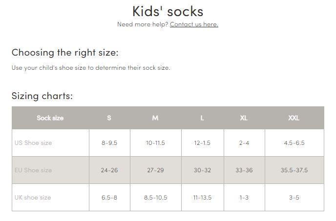 icebreaker ski sock size guide